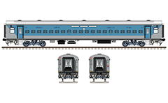 "IMPORTANT: EDITORIAL USE ONLY! Vector illustration with side and front view of Non AC LHB (Linke Hofmann Busch) chair coach owned by Indian Western Railway company. The wagon is painted in blue-gray livery and used like a new rolling stock from Karnavati express train. Realistic color drawing with many details - CBC ""H"" type tight lock coupler, FIAT bogies, intermediate tank bio toilets, brake equipment, battery box, electrical cubical, ventilation, destination board and number plate), technical inscriptions and others. Isolated objects over white background."