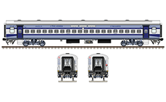 Vector illustration with side and front view of Indian Non AC (Air-Conditioned) LHB (Linke Hofmann Busch) 3 - tier sleeper car type in livery of express train from Anand Vihar Terminal to Udhampur railway station. All technical inscriptions are in English and Hindi. EDITORIAL USE