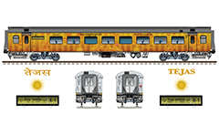 Vector illustration with front view of high-speed electric locomotives serie WAP-5 and WAP-7 by Indian Railways. The engines is equipped with pantograph WBL-85 for high speeds, AAR tightlock couplers and chain link couplers. The abbreviation with capitals WAP mean: W-Broad Gauge, A–AC electric traction, P-Passenger. High-quality color drawing. Isolated objects over white background.