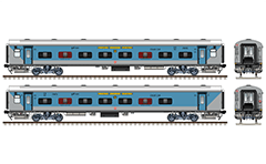 Vector illustration with side and front view of Indian Linke Hofmann Busch (LHB) chair car marked with SC – South Central Railway zone of Indian Railways. Super fast express train. EDITORIAL USE