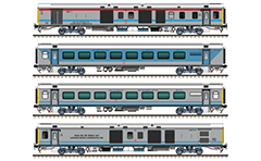 Set with the rolling stock of superfast train 12243 from MGR Chennai Central Railway Station to Coimbatore Junction. LHB air-conditioned coaches in composition: EoG - 7 AC chair Cars - 1 AC first chair car - EoG. Reporting mark SR- South Railway zone of Indian Railways. EDITORIAL USE