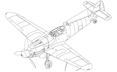 "3D drawing of fighter Me 109 ""Gustav"" by Luftwaffe - The German Air Force during World War II. This aircraft is designed by professor Willy Messerschmitt and avio engineer Robert Lusser. Designation Bf - Bayerische Flugzeugwerke is until july, 1938. The Bf 109 is the most produced fighter aircraft in history."