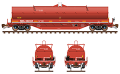 Railroad gondola and hopper car for carriage of bulk products. Collection contains wagon Eaos type designed for the transport of bulk goods, coal, scrap, steel, wood, paper and wagon type Tads for transport of bulk commodities which must be protected during transport from climatic influences.