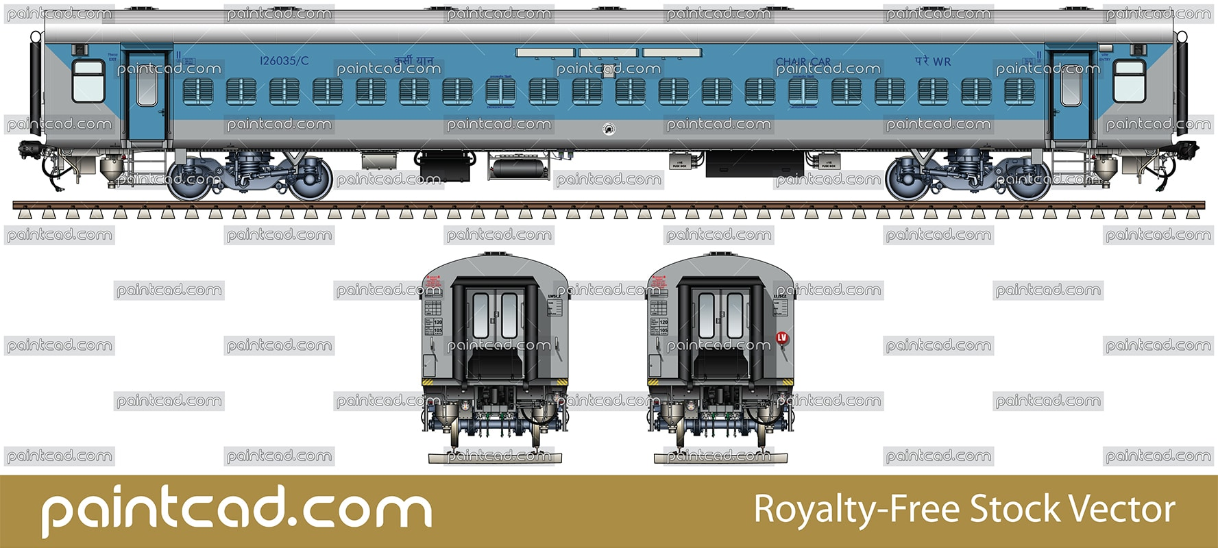 lhb non ac chair car in livery of indian western railway wr rh paintcad com Circuit Breaker Box Electrical Panel