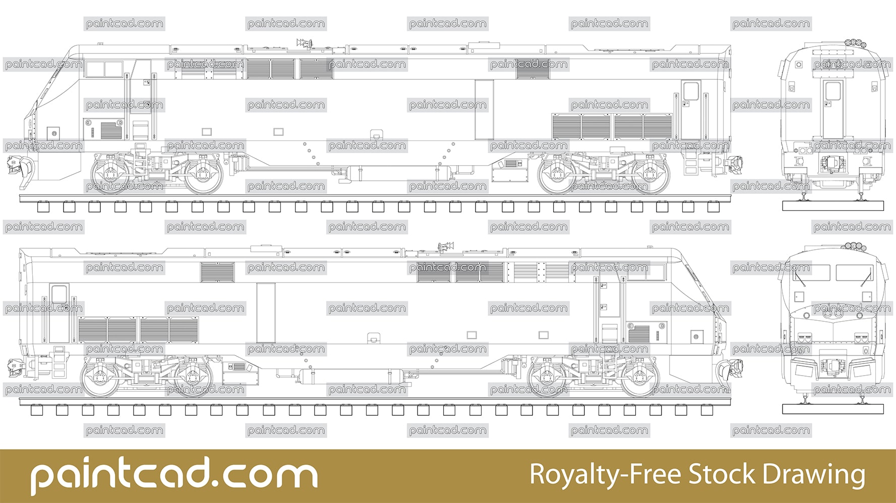 American diesel-electric locomotive P42DC by Amtrak train - vector illustration