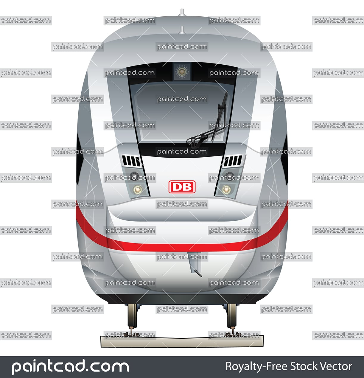 German high-speed train Intercity-Express ICE 4 BR 412 of DB - vector illustration