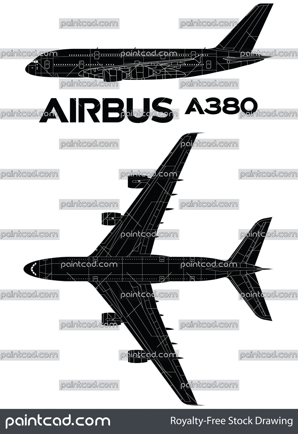 Quality vector icon with huge passenger airplane Airbus A380 - vector illustration